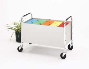 Roll Away Solid Bin File Cart by Charnstrom
