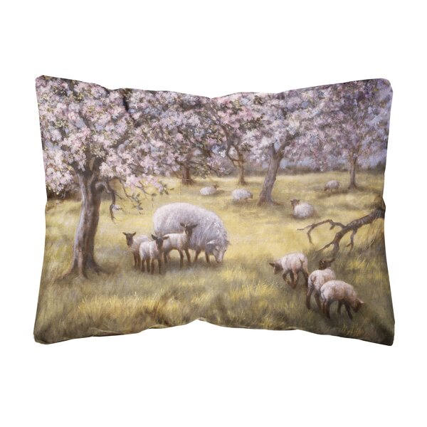 Schuykill Sheep by Daphne Baxter Indoor/Outdoor Throw Pillow by Winston Porter