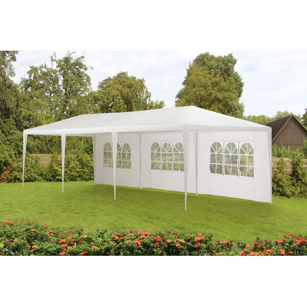 10 Ft. W x 29.5 Ft. D Steel Budget Party Tent Canopy Without Fire Retardant by Sunjoy