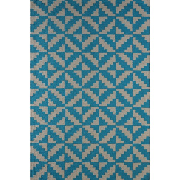 Hisey Hand-Tufted Teal Area Rug by Brayden Studio