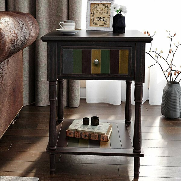 Review Nistler End Table With Storage