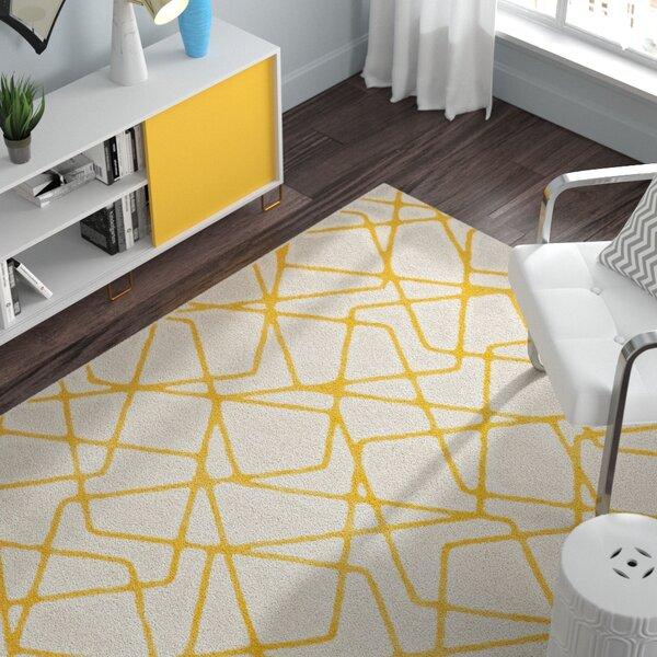 Nanette Light Gray / Yellow Area Rug by Zipcode Design