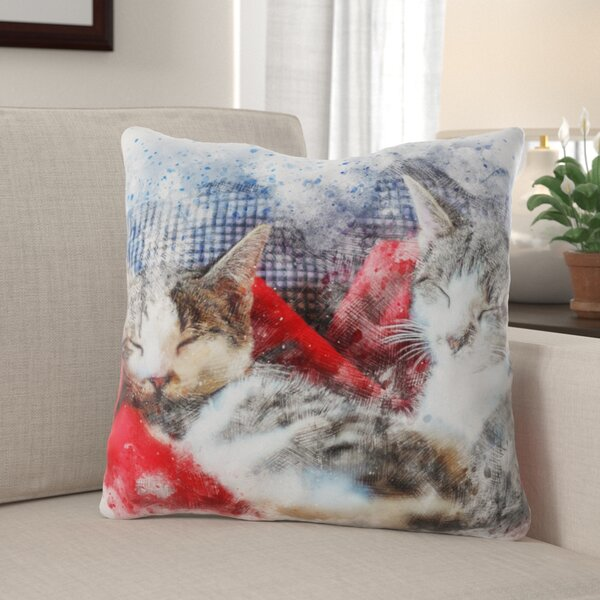 Dupuy Cats Throw Pillow