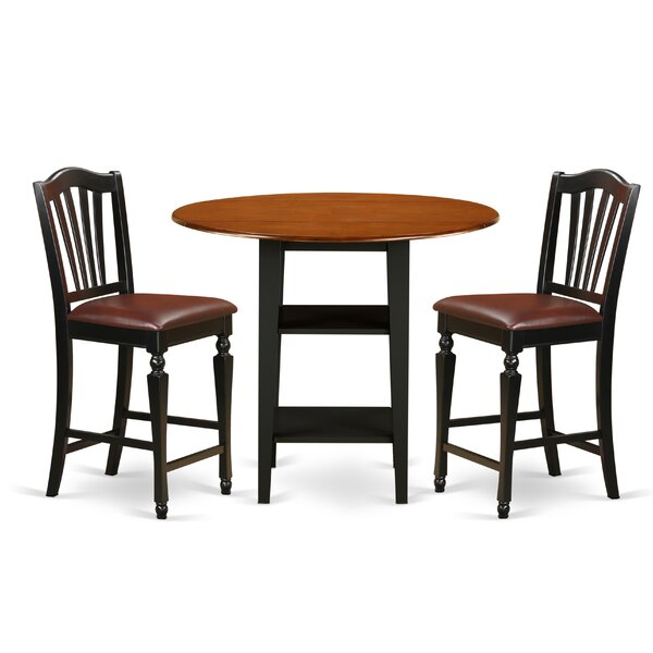 Tyshawn Counter Height 3 Piece Pub Table Set by Charlton Home