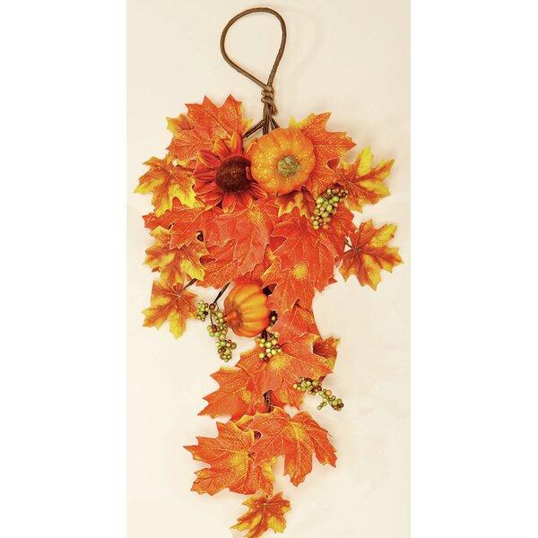 Leaf Pumpkin Sunflowers Floral Arrangement by Worth Imports