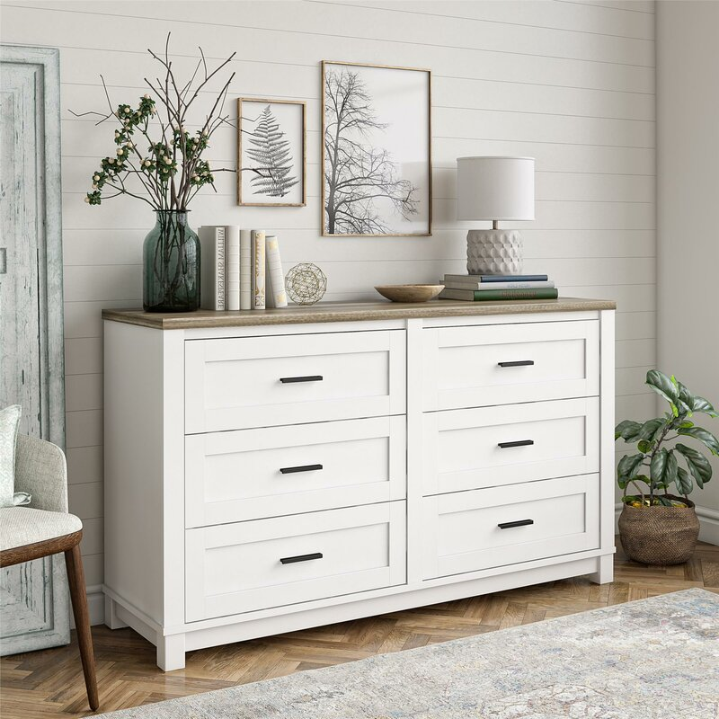 Marcos 6 Drawer Double Dresser