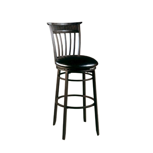 Cottage 30 Swivel Bar Stool with Cushion by Hillsdale Furniture