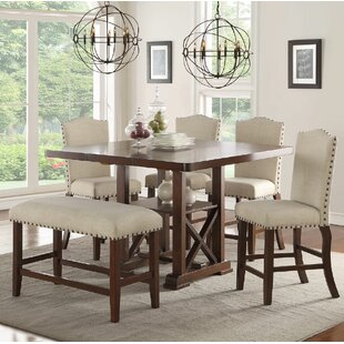 Chevaliers 6 Piece Counter Height Dining Set & Counter Height Chairs Set Of 4 | Wayfair