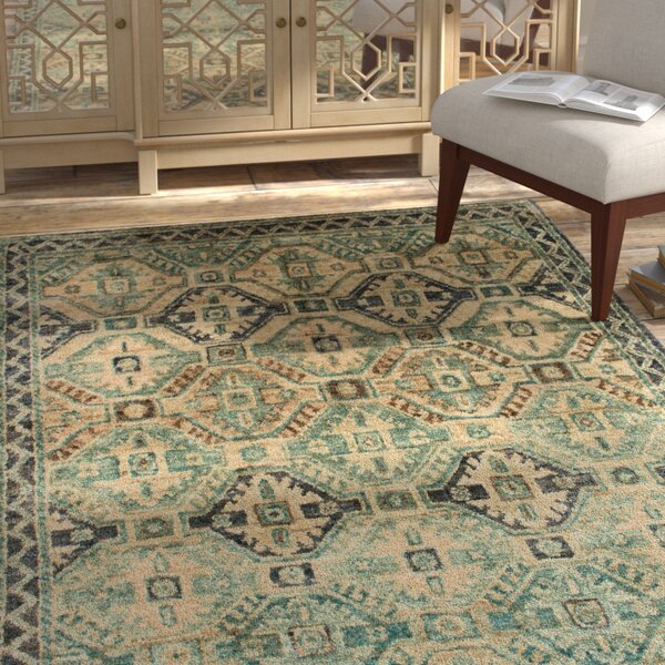 Zacarias Hand-Knotted Indigo Area Rug by Bloomsbury Market
