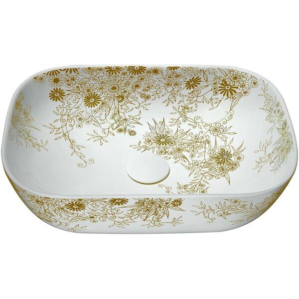 Breeze Vitreous China Oval Vessel Bathroom Sink by ANZZI