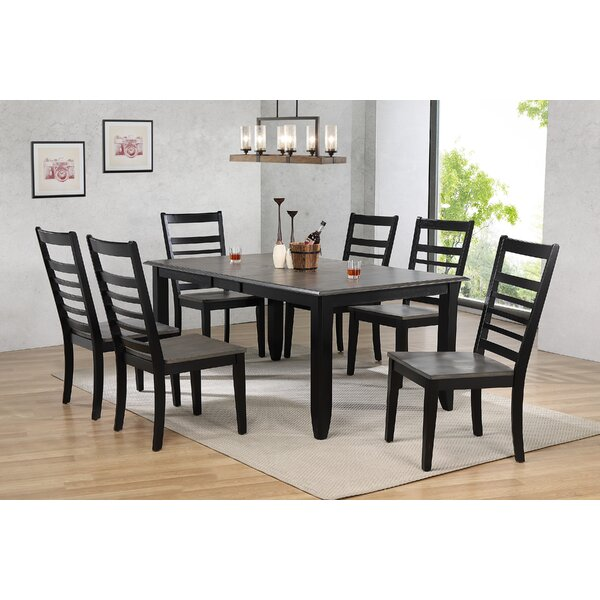Tempo Brook 7 Piece Extendable Solid Wood Dining Set by Gracie Oaks