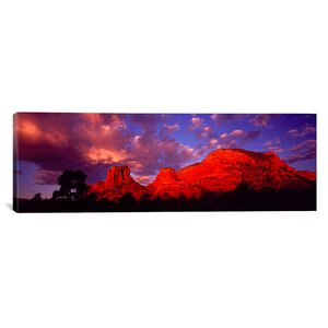 'Rocks at Sunset Sedona, Arizona' Photographic Print on Canvas by East Urban Home