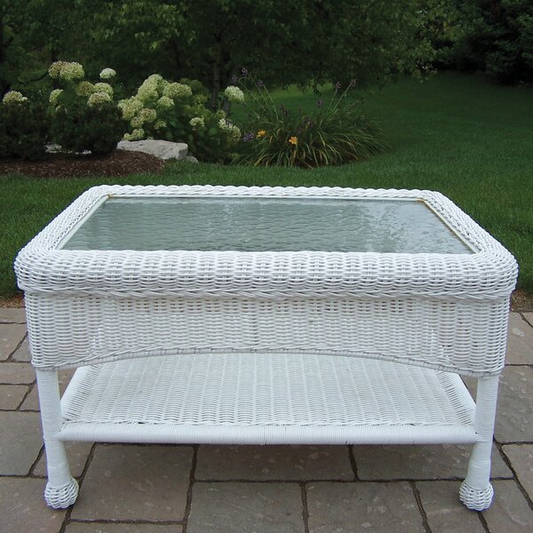 Kingsmill Glass Coffee Table by Rosecliff Heights