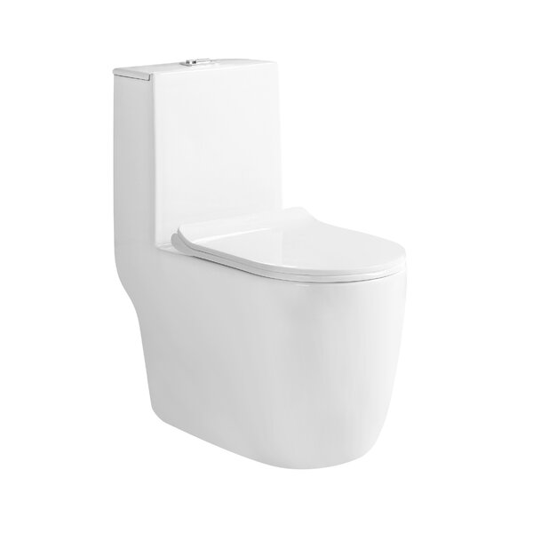 Agrius Dual Flush Elongated One-Piece Toilet by Best Living International