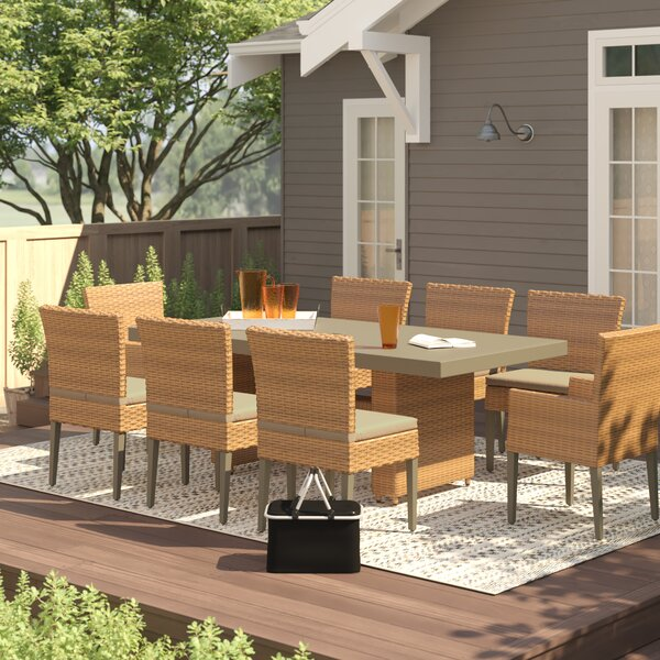 Waterbury 9 Piece Dining Set with Cushions