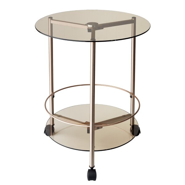 Gibson Rolling End Table by Adesso