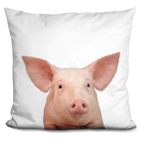Pig Throw Pillow by East Urban Home