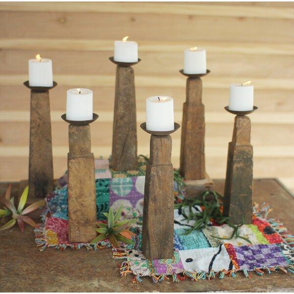 Furniture Leg 6 Piece Wood Candlestick Set by Union Rustic