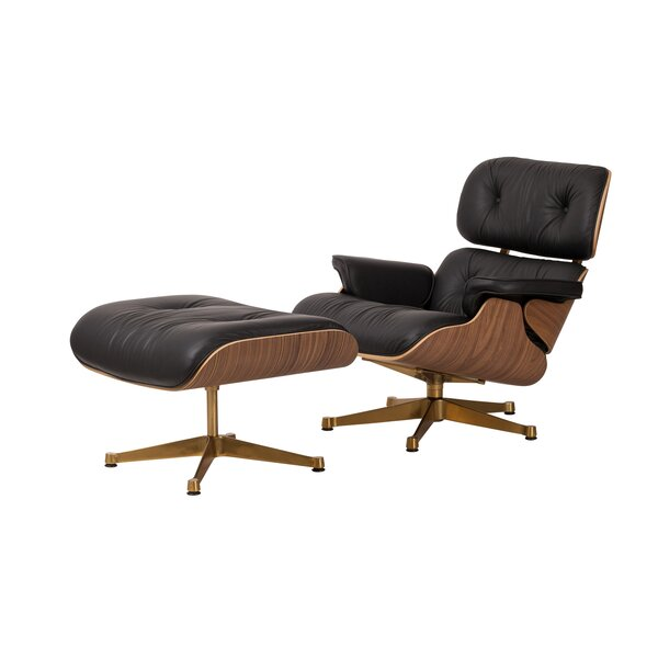 Weiss Swivel Lounge Chair And Ottoman