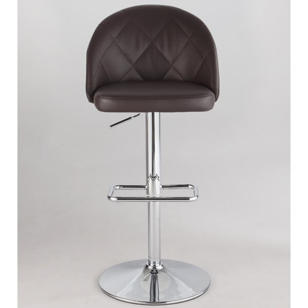 Chadley Adjustable Height Swivel Bar Stool by Orren Ellis