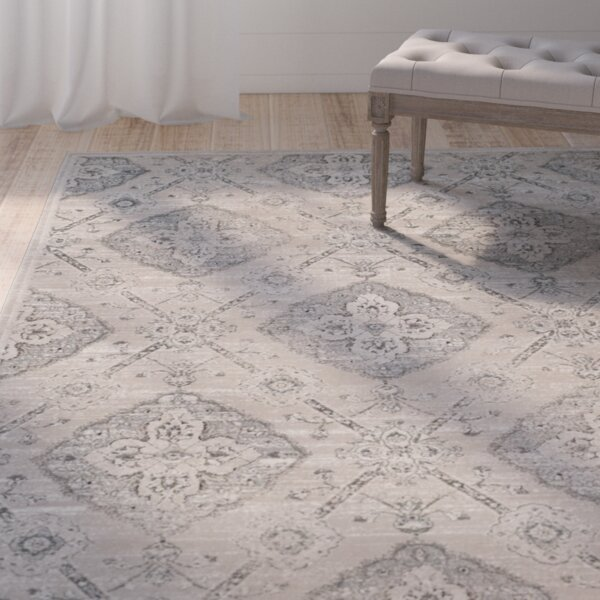 Joana Taupe/Light Blue Area Rug by One Allium Way