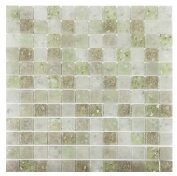 Lakeview 1 x 1 Glass Mosaic Tile in Cayman by Kellani