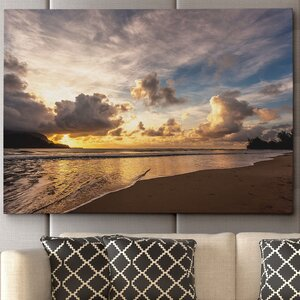 'Sunset in Hanalei Bay' by Danita Delimont Framed Photographic Print on Wrapped Canvas by Wexford Home