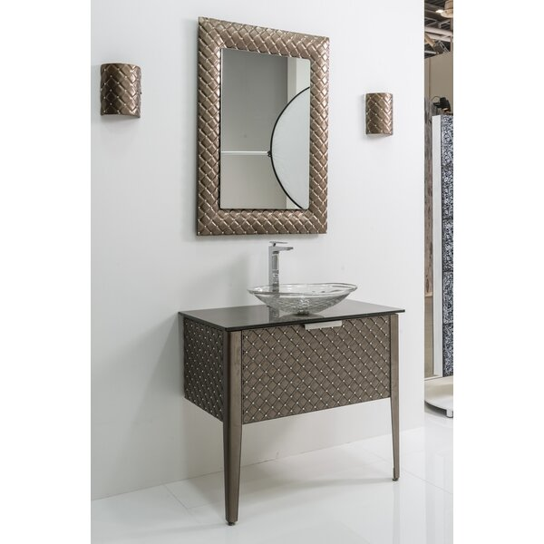 Krystal Glass 34 Single Bathroom Vanity by Bloomsbury Market