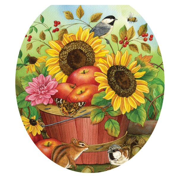 Fall Basket Toilet Seat Decal by Toilet Tattoos