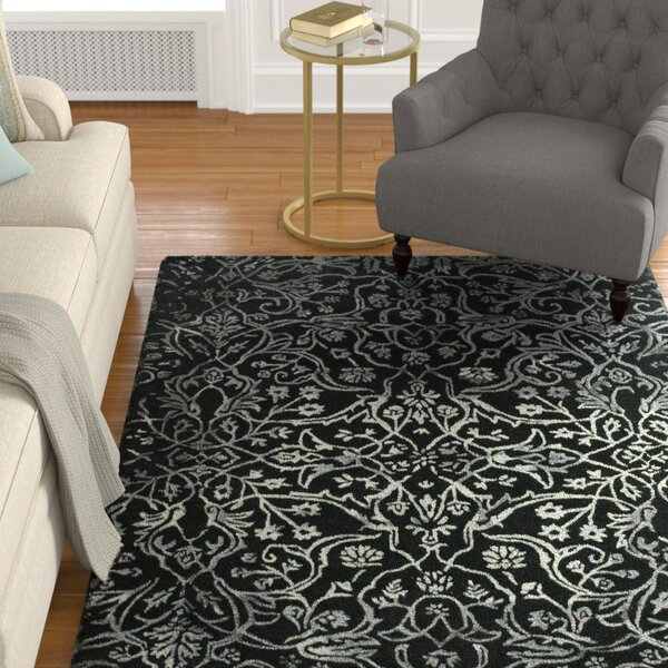 Somers Black/White Area Rug by Darby Home Co