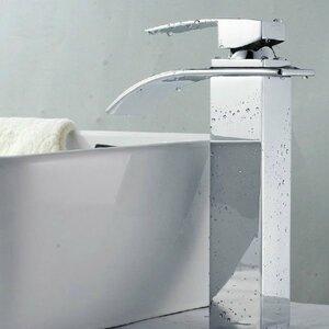 Single Handle Single Hole Waterfall Vessel Sink Faucet