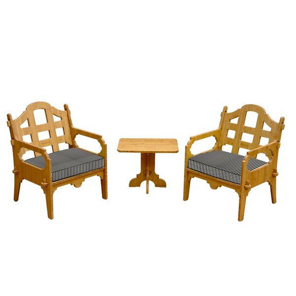 Burliegh 3 Piece Conversation Set  with Cushions by Loon Peak
