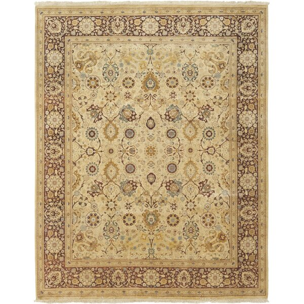 One-of-a-Kind Devan Hand-Knotted Wool Beige Indoor Area Rug by Isabelline