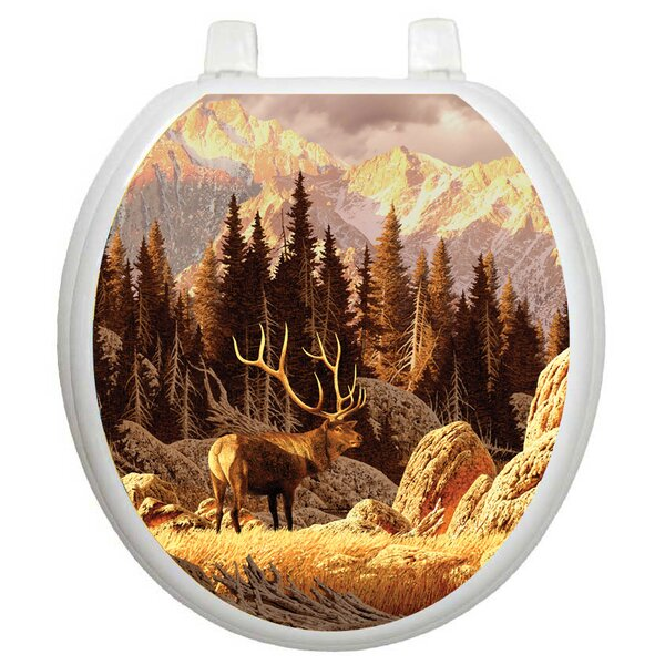 Themes Elk Bull Toilet Seat Decal by Toilet Tattoos