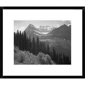 'Trees, Bushes and Mountains, Montana -  1941' by Ansel Adams Framed Photographic Print by Global Gallery