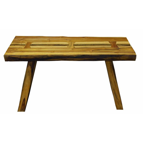 Oldaker Rustic Teak Picnic Bench by Loon Peak