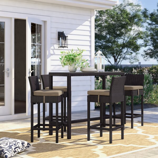 Brentwood 5 Piece Bar Height Dining Set With Cushion By Sol 72 Outdoor