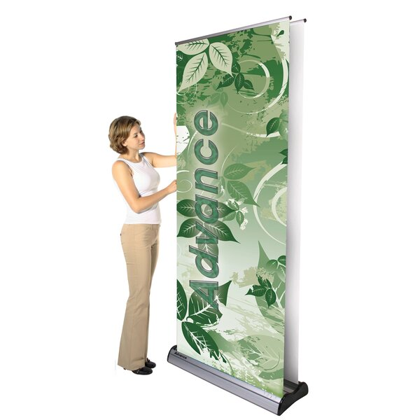 Advance Double-Sided Banner Stand by Exhibitor's H