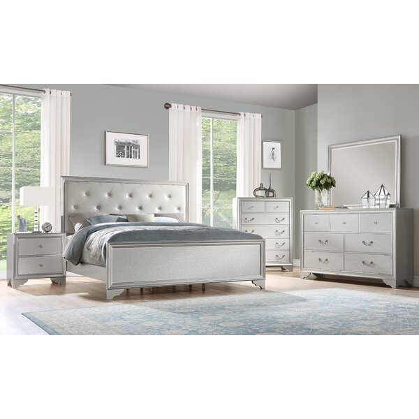 Xan Standard Solid Wood 4 Piece Bedroom Set By House Of Hampton by House of Hampton New