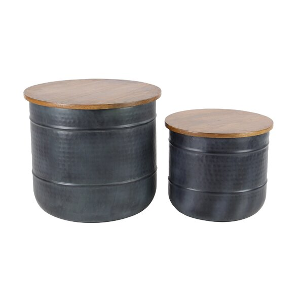 Lalonde Traditional Wood 2 Piece Accent Stool Set by Williston Forge