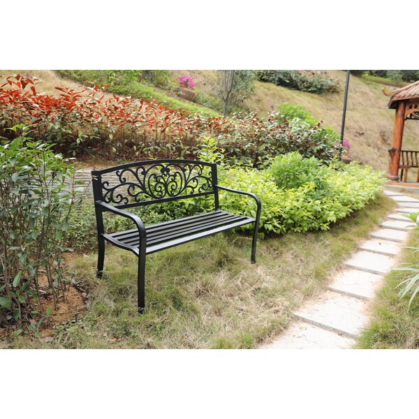 Caudell Powder Coated Steel Park Bench By Fleur De Lis Living