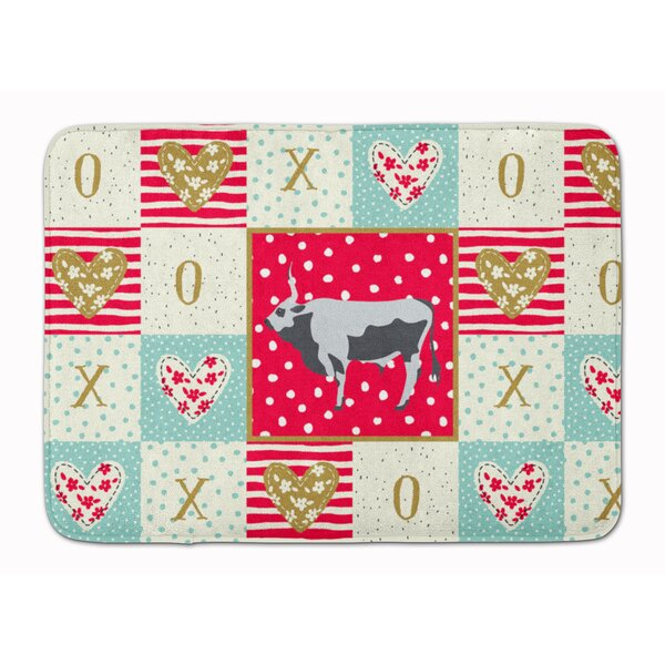 Jamilee Hungarian Steppe Cow Love Memory Foam Kitchen Mat