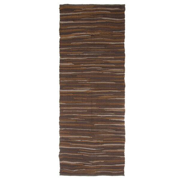 Sandeep Accent Hand-Woven Chocolate Area Rug by Highland Dunes