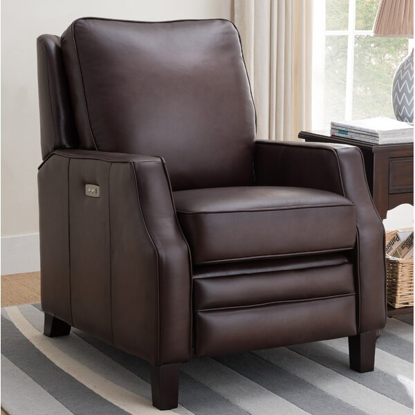 Sussman Leather Power Rocker Recliner by Red Barrel Studio