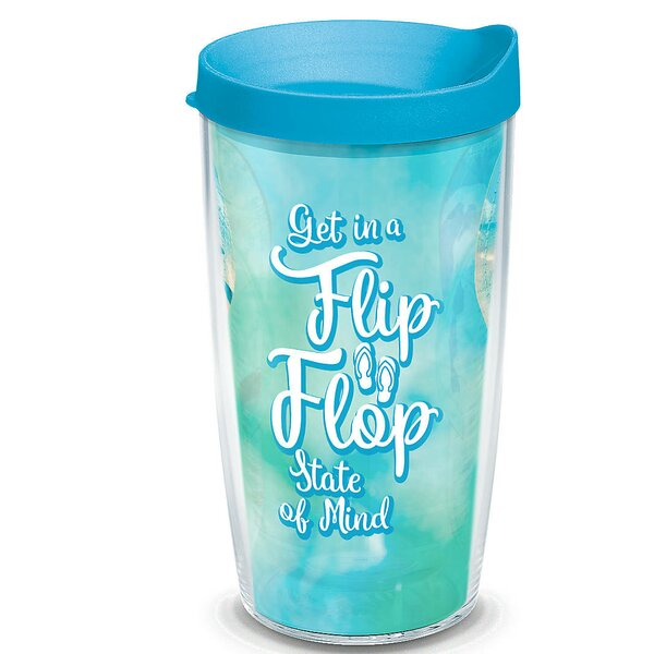 Sun and Surf Flip Flop State Of Mind Plastic Travel Tumbler by Tervis Tumbler