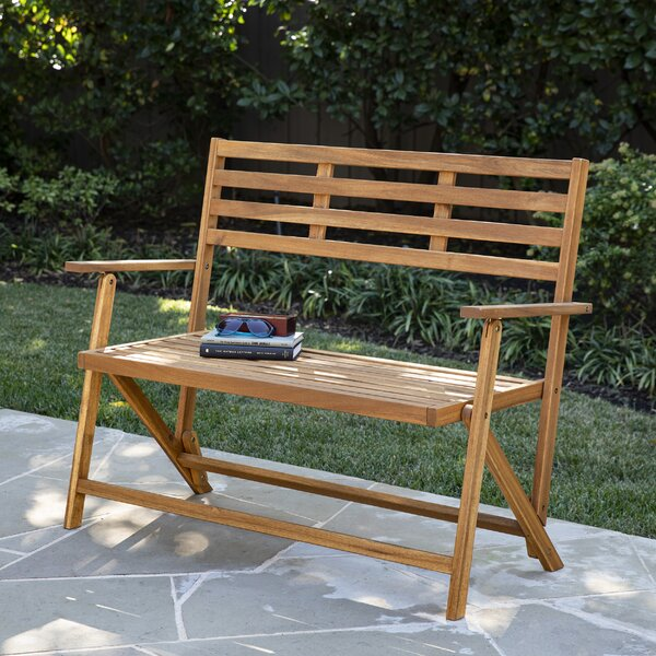 Ballidon Outdoor Wooden Garden Bench by Highland Dunes