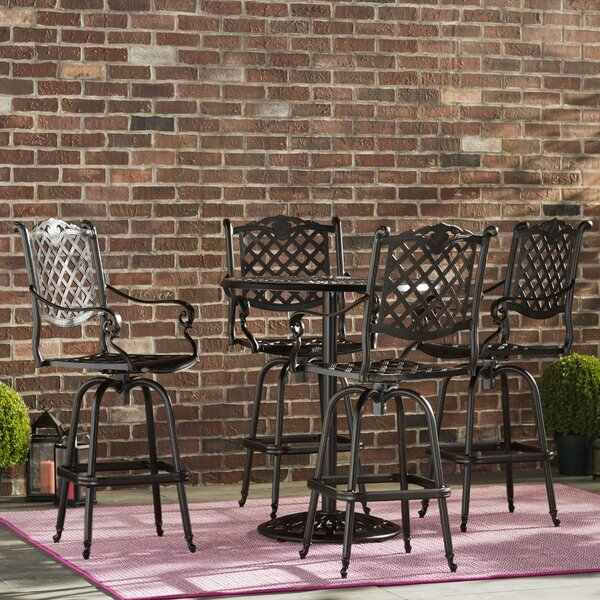 Leininger 5 Piece Bar Height Dining Set by Three Posts
