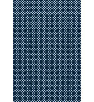 Nicole Elegant Cross Design Blue/White Indoor/Outdoor Area Rug by George Oliver