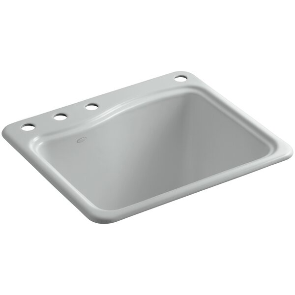 River Falls Top-Mount Utility Sink with 4 Faucet Holes - 3-Holes On Deck On The Left and Right-Hand Accessory Hole by Kohler