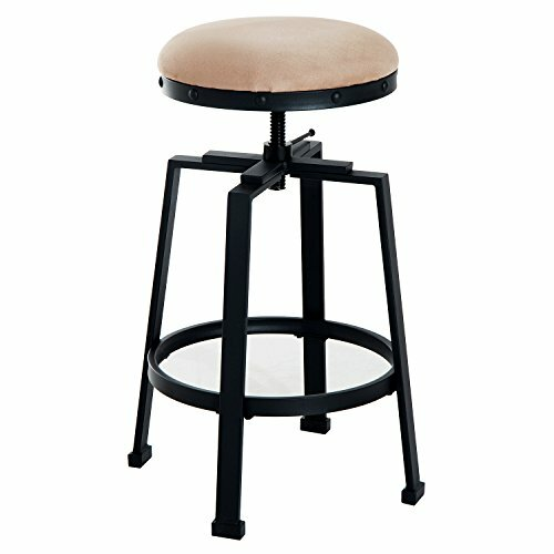 Chumbley Padded Adjustable Height Swivel Barstool by Williston Forge